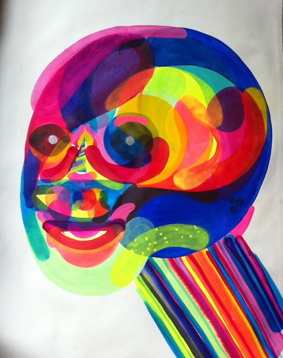 Obra do artista Prozak técnica mista sobre tela 70x100cm