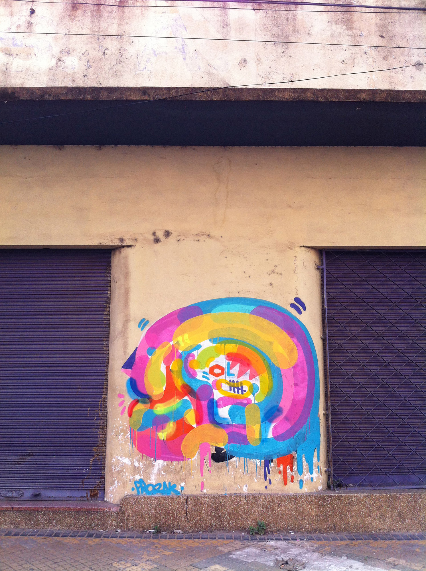 grafite feito no Paraguay em 2015 Prozak; Graffiti; Arte; Grafite; Art; Pintura; Beco do Batman