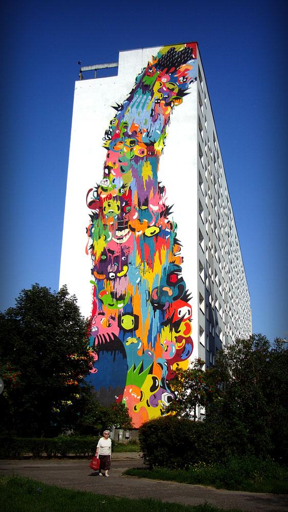 Grafite Mural muralismo Polonia 2011